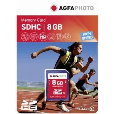 Memoria SDHC AgfaPhoto 8GB para Ricoh WG-30W