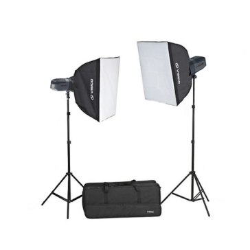 Kit Flash de estudio Visico 5 Inalámbrico TTL Plus Softbox Extra