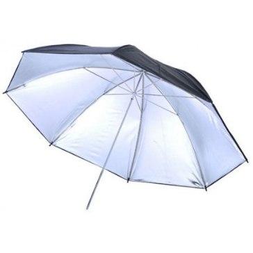 Paraguas Visico UB-003 Plateado/Negro 110cm