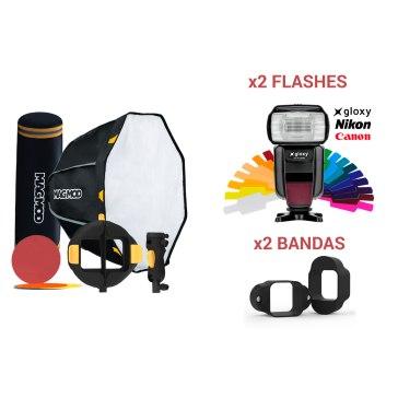 Kit MagMod MagBox 24 Octa Pro + 2 Flashes Gloxy GX-F1000 TTL HSS