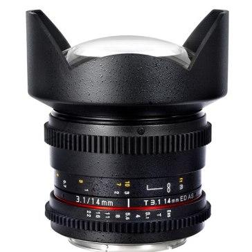 Objetivo Samyang 14mm T3.1 V-DSLR ED AS IF UMC Sony E para Sony A6100
