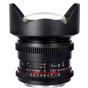 Objetivo Samyang 14mm T3.1 V-DSLR ED AS IF UMC Sony E para Sony A6600