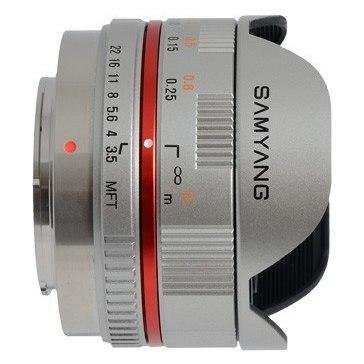 Samyang 7.5mm f/3.5 Fish-Eye CS II Lens Micro 4/3 Silver
