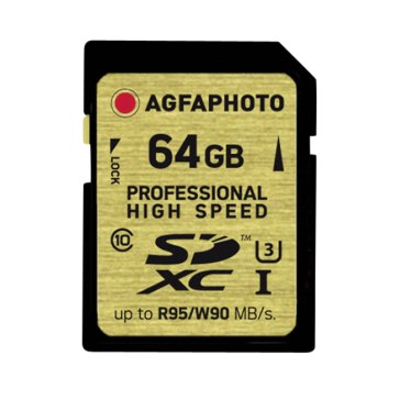 Memoria SDXC AgfaPhoto 64GB Profesional UHS I