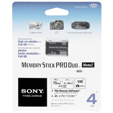 Memoria Sony Memory Stick 4GB para Sony A6600