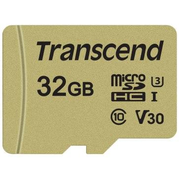 Transcend Memoria microSDHC 32GB 500S