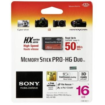 Memoria Sony Memory Stick Pro HG Duo HX 16GB 50MB/s para Sony A6600