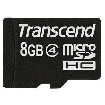 Memoria Transcend MicroSDHC 8GB Class 4