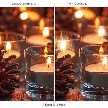 Filtro Estrella 6 puntas para Kodak EasyShare Z1012 IS