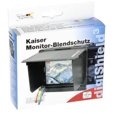 Parasol para pantalla LCD Kaiser  digiShield 7,6 cm (3,0 ) Negro