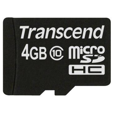 Memoria Transcend MicroSDHC 4GB Class 10