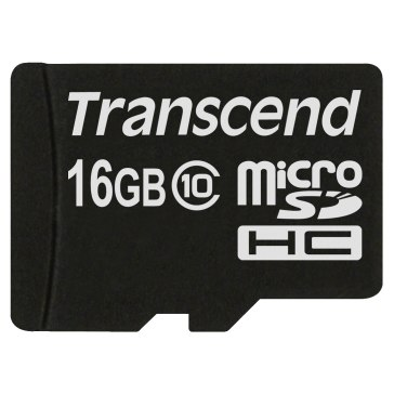 Memoria Transcend MicroSDHC 16GB Clase 10