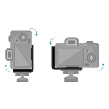 Plato de liberación tipo L para Nikon D7100