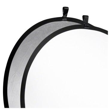 Reflector plegable Walimex Plateado / Blanco Ø107cm
