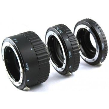 Kit tubos de extensión Canon 12mm, 20mm, 36mm para Canon EOS 1300D