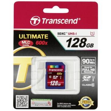 Memoria SDXC Transcend 128GB Clase 10  UHS-I