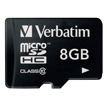 Memoria microSDHC Verbatim 8GB Clase 10