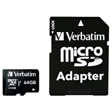 Memoria microSDXC Verbatim 64GB Clase 10 + Adaptador